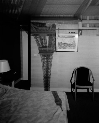 VIEW OF EIFFEL TOWER IN THE HOTEL FRANTOUR, 1999