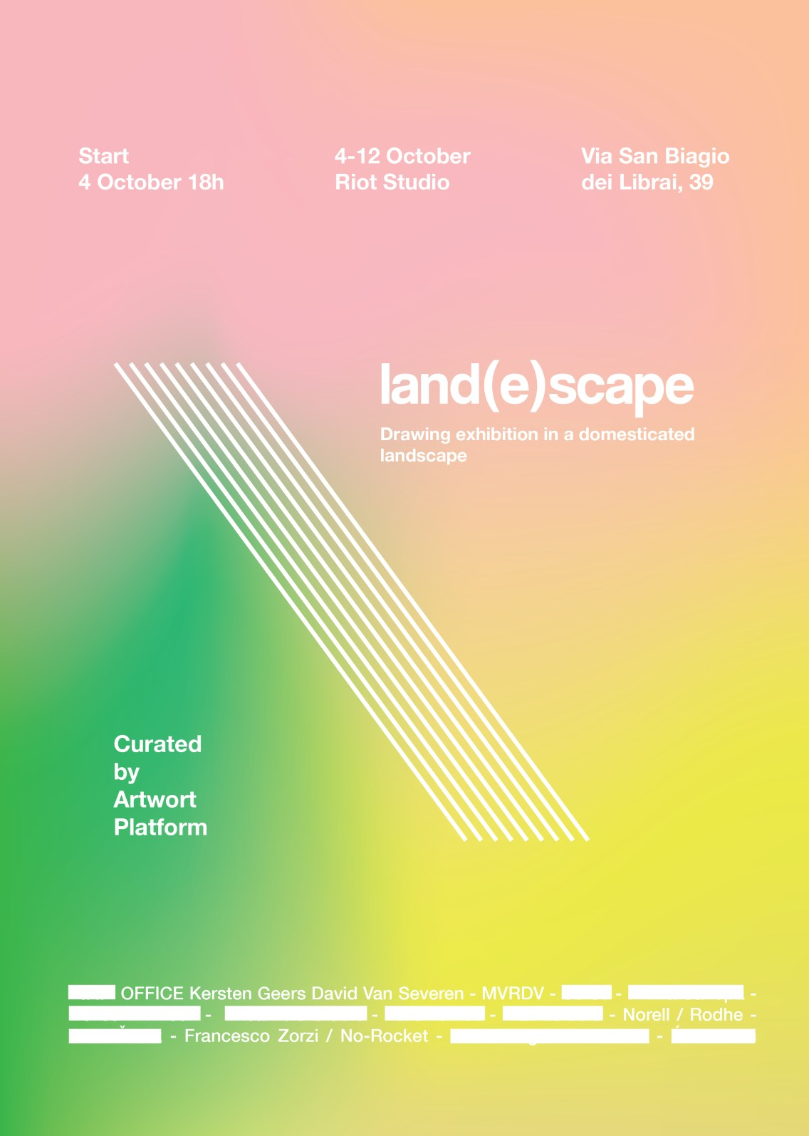 land(e)scape. Drawing exhibition in a domesticated landscape