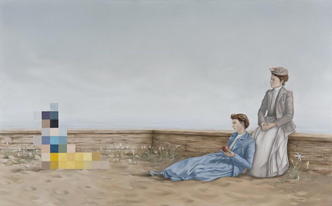 Due orizzonti, 2013, cm 50x80, olio su lino