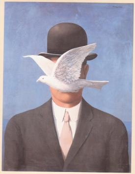 René Magritte – Man in a Bowler Hat (1964)
