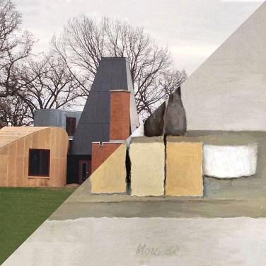 Frank Owen Gehry, Winton Guest House, Orono (USA), 1983-1987 VS Giorgio Morandi, Natura Morta, 1956 – © Davide Trabucco, Confórmi
