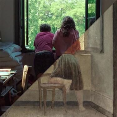 Luca Guadagnino, Call me by your name, 2017 VS Balthus, Girl at a Window, 1955 – © Davide Trabucco, Confórmi