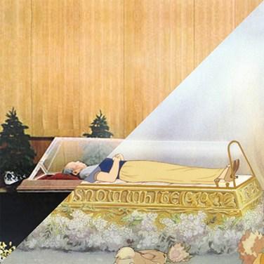 Mao Tse-tung embalmed body, 1976 VS Walt Disney, Snow White and the Seven Dwarfs, 1937 – © Davide Trabucco, Confórmi