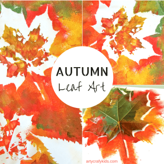 Arty Crafty Kids   Art   Autumn Craft for Kids   Autumn Leaf Painting for Kids