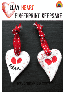 Arty Crafty Kids - Clay Heart Fingerprint Keepsake