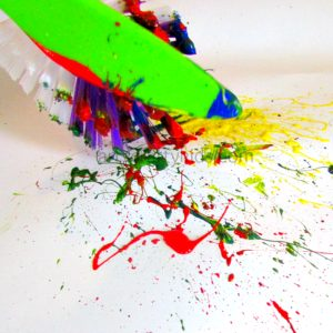 Arty Crafty Kids - Splat Painting - Process Art for Kids