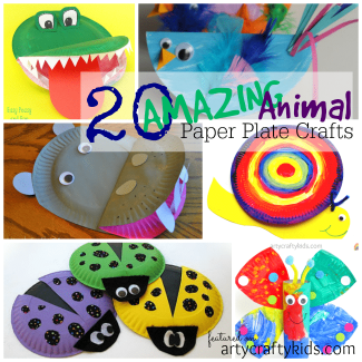Arty Crafty Kids - Kid Craft - 20 Amazing Animal Paper Plate Crafts