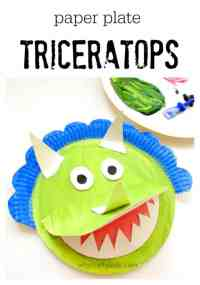 Paper Plate Triceratops