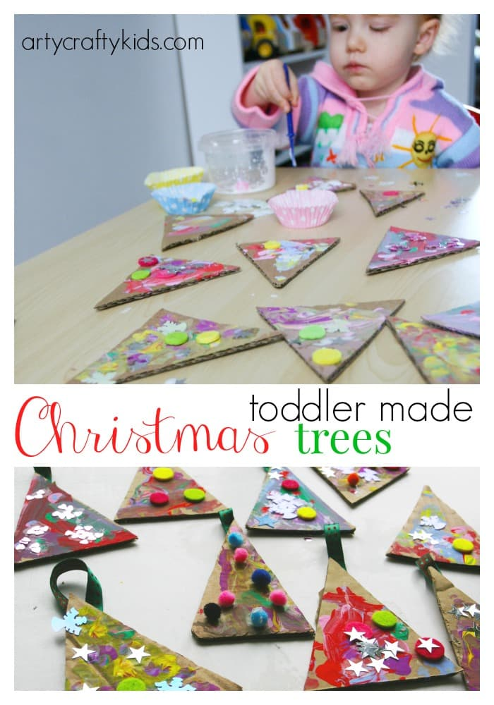 children christmas craft ideas toddler trees 3536