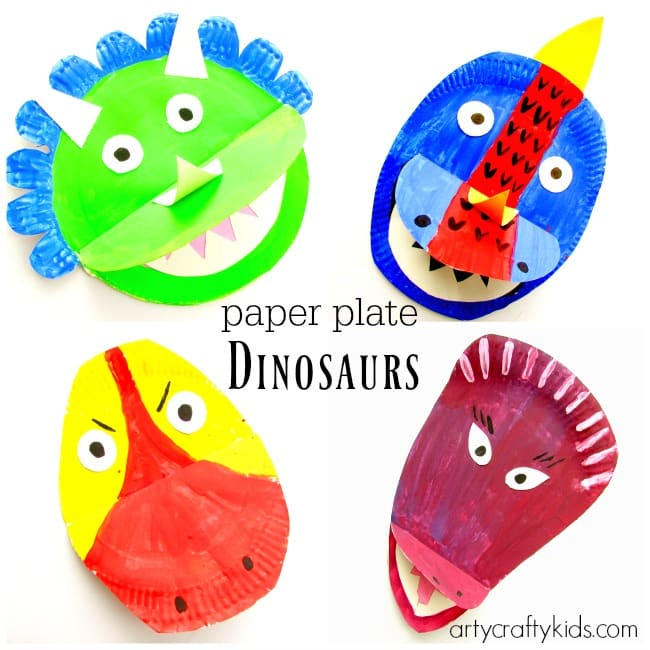 Arty Crafty Kids - Art - Art Ideas for Kids - Paper PLate Dinosaurs  sc 1 st  Arty Crafty Kids : paper plate dinosaur - Pezcame.Com