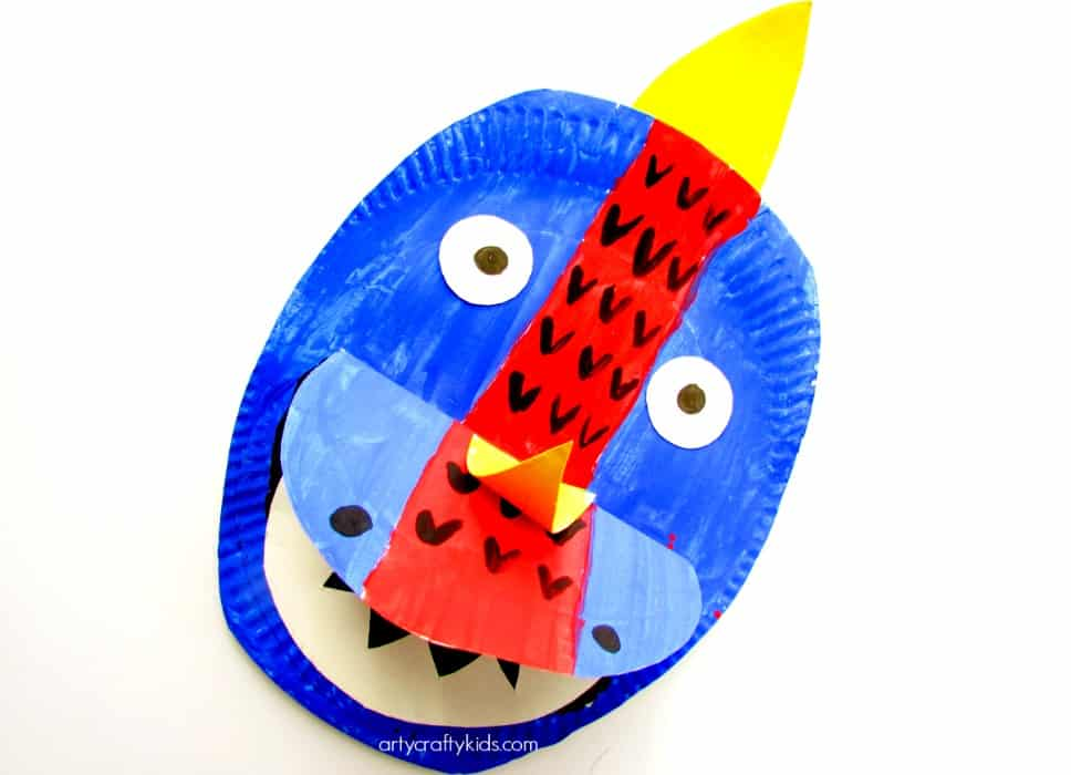 Arty Crafty Kids - Craft - Craft Ideas for Kids - Paper Plate Dinosaur  sc 1 st  Arty Crafty Kids : paper plate dinosaur - Pezcame.Com