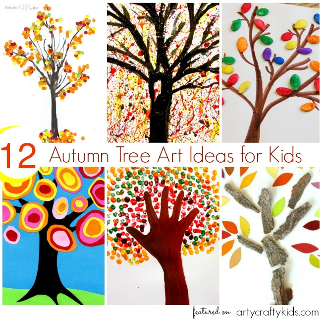 12 Autumn Tree Art Ideas For Kids Arty Crafty Kids