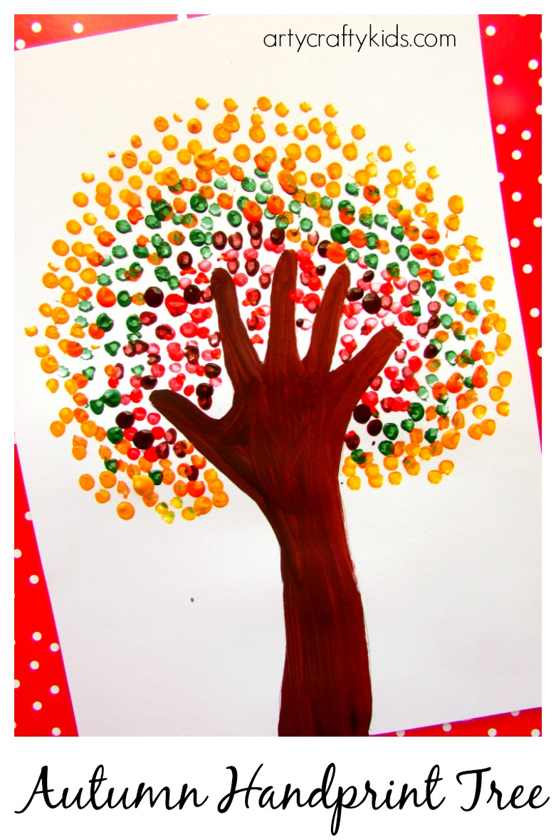 Kid Fall Craft Ideas Part - 32: Arty Crafty Kids - Art - Art Ideas For Kids - Autumn Handprint Tree