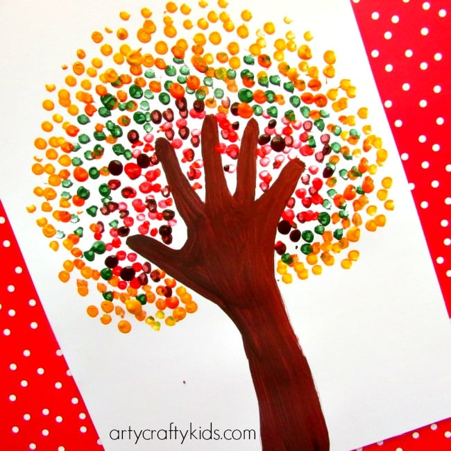 September Craft Ideas For Kids Part - 35: Arty Crafty Kids - Art - Art Ideas For Kids - Autumn Handprint Tree