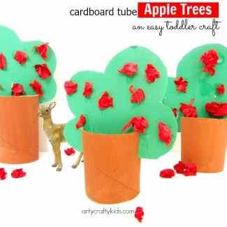 Arty Crafty Kids - Craft - Craft Ideas for Kids - Cardboard Tube Apple Trees