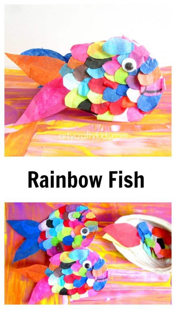 Paper Plate Rainbow Fish Craft Arty Crafty Kids 1481177