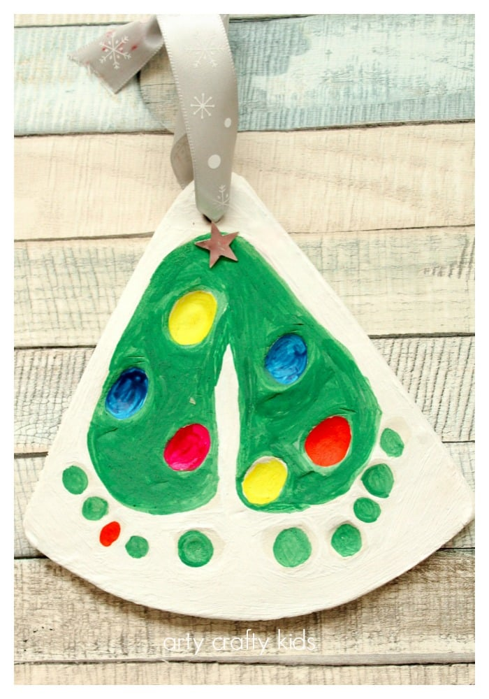 Baby Footprints Christmas Tree Ornament - Arty Crafty Kids