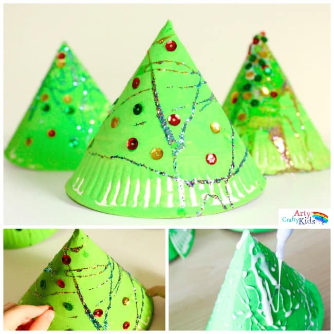 Cute Simple And Perfect For Toddlers Preschoolers This 3d Paper Plate Christmas