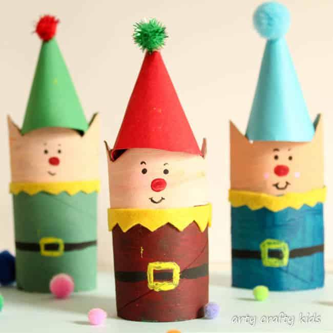 Cardboard Tube Christmas Elf Craft Arty Crafty Kids