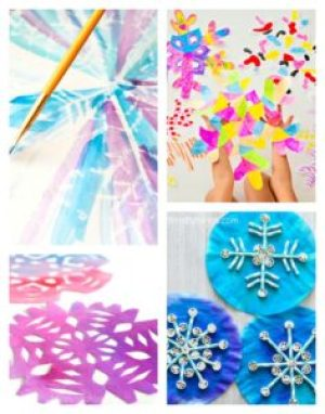 Arty Crafty Kids | Art | 12 Stunning Arty Crafty Snowflakes | A stunning collection of 12 Arty Crafty Snowflakes to try this Winter. Presenting a variety of techniques, from an easy winter craft to something more challenging for older kids!