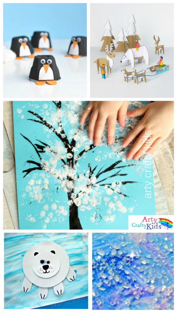 Awesome January Craft Ideas For Kids Part - 10: 16 Easy Winter Crafts For Kids