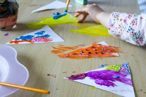 Arty Crafty Kids | Art | Colourful Woodland Tree Art