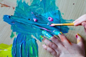 Arty Crafty Kids | Art | Colourful Woodland Tree Art