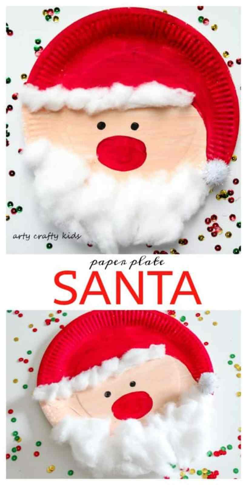 santa claus craft ideas paper plate santa arty crafty 5362
