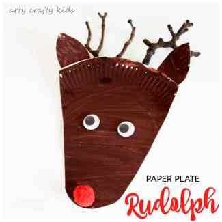 Arty Crafty Kids - Christmas - Paper Plate Rudolph Reindeer Craft