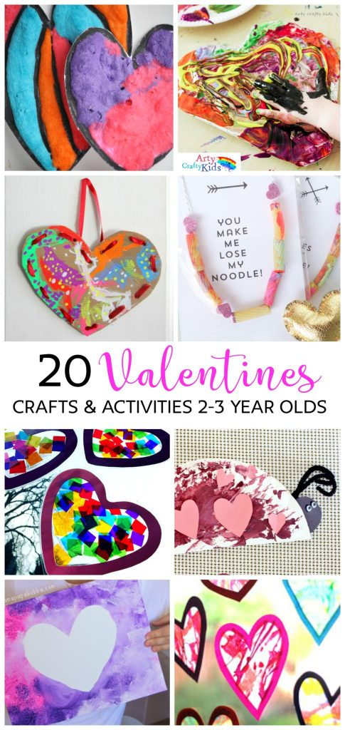 20 valentines preschool crafts activities arty crafty kids for Valentine craft projects kids