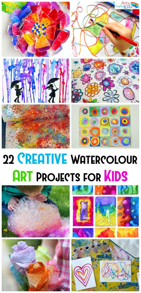 Creative watercolor art projects for kids arty crafty kids for Creative arts and crafts ideas