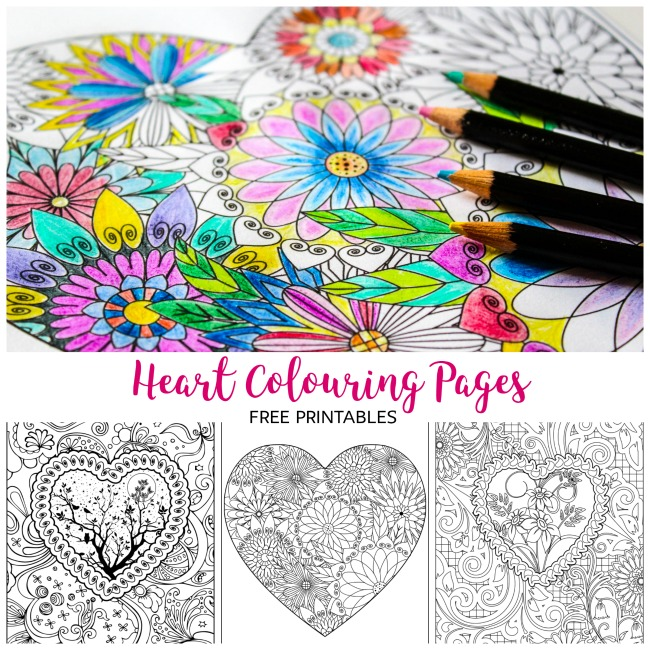 Heart Coloring Pages Arty Crafty