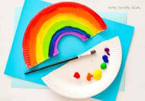 paper plate rainbow craft easy paper plate rainbow craft arty crafty 5113