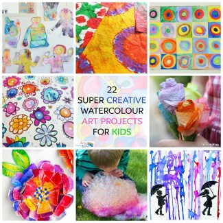Arty Crafty Kids   Art   Kids Art Projects   22 Creative Watercolor Art Projects for Kids   A collection of the most creative, unique and fun ways for kids to create amazing works of art with watercolors