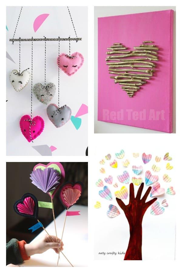 16 kids valentine heart
