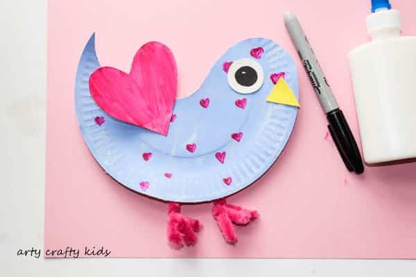 Arty Crafty Kids   Craft   Paper Plate Love Birds   Super cute paper plate Love & Paper Plate Love Birds - Arty Crafty Kids