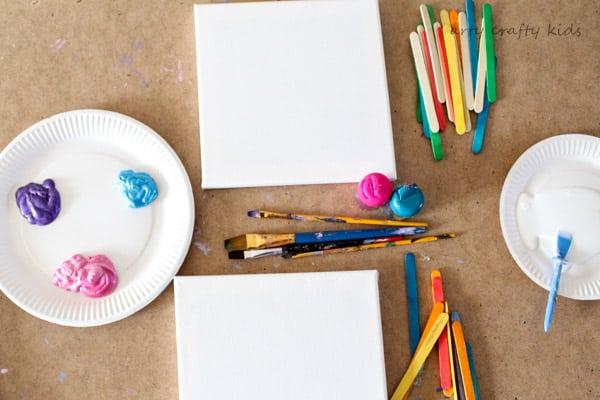 Arty Crafty Kids | Art | Craft Stick Canvas Art