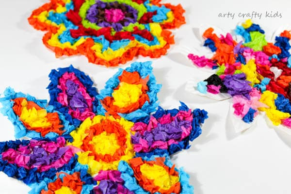Colourful Spring Paper Plate Flower Craft