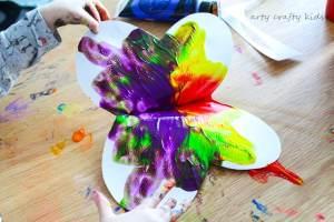 Arty Crafty Kids | Art | Easy Butterfly Kids Art