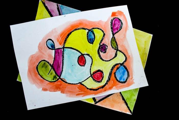 Arty Crafty Kids   Art   Black Line Exploration Art