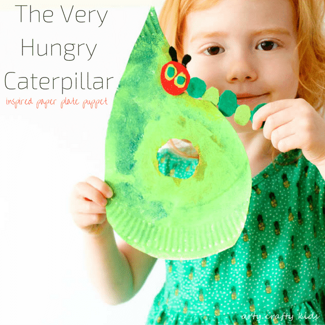 Arty Crafty Kids | Book Club | Craft | The Very Hungry Caterpiller Craft | A playful craft inspired by The Very Hungry Caterpillar. A fabulous play and create craft for preschoolers!