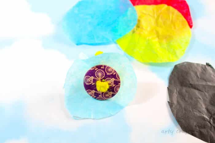 Arty Crafty Kids | Craft | Spring Crafts for Kids | Craft | 3D Tissue Paper Flower | An easy Flower Craft for Kids