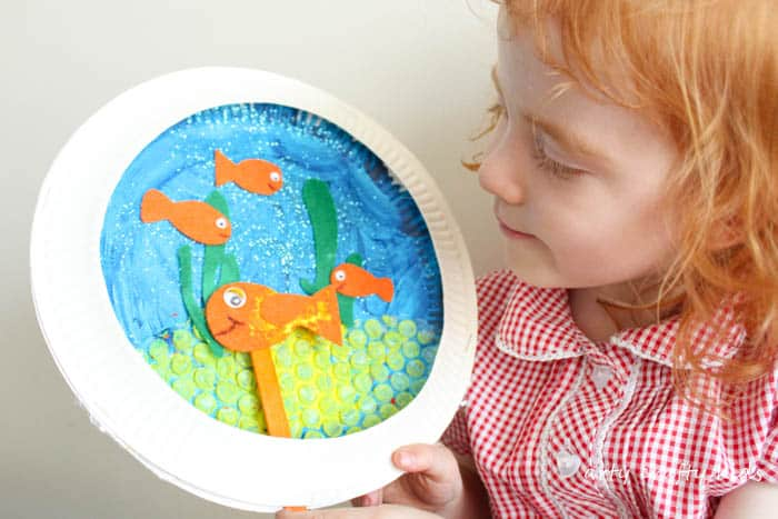 Paper plate goldfish bowl craft arty crafty kids for Fish bowl craft