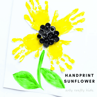 Arty Crafty Kids | Art | Easy Handprint Sunflower Craft | A super cute sunflower handprint craft for kids!