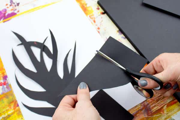 Arty Crafty Kids | Art | Spooky Tree Silhouette Spooky Tree Silhouette Kids Art Project | A super fun and easy art project for kids using the scrape painting technique!