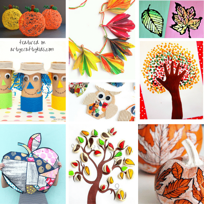 autumn kids crafts creative fall crafts for arty crafty 10067