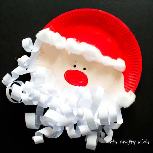 Arty Crafty Kids | Craft | Paper Plate Santa Claus | A super fun and easy