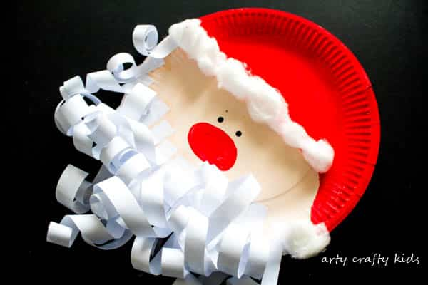 Paper Plate Santa Claus - Arty Crafty Kids
