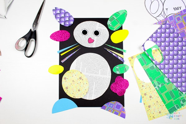 Arty Crafty Kids | Art Ideas for Kids | Paper Bunny Craft for Kids - using the template providing, kids can create a cute bunny using recycled paper. A great craft idea for Spring and Easter #eastercraftforkids #springcraftsforkids #kidscrafts #craftsforkids #eastercrafts