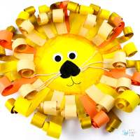 Curly Paper Plate Lion Craft - Arty Crafty Kids